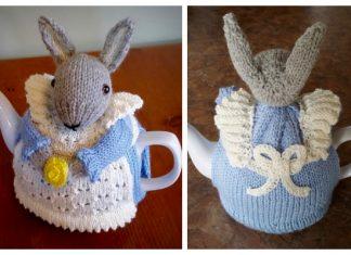 Knit Bunny Rabbit Tea Cozy Free Knitting Pattern