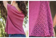 Knit Cascata Tee Top Free Knitting Pattern