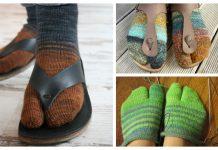 Easy Knit Tabi Split Toe Socks Free Knitting Patterns