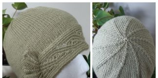Knit Green Cloche Hat Free Knitting Pattern