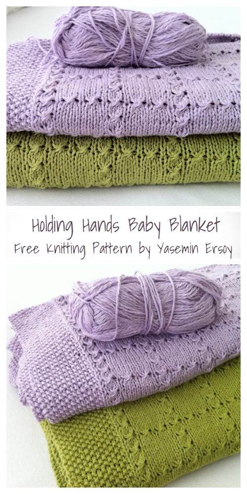 Knit Holding Hands Baby Blanket Free Knitting Pattern