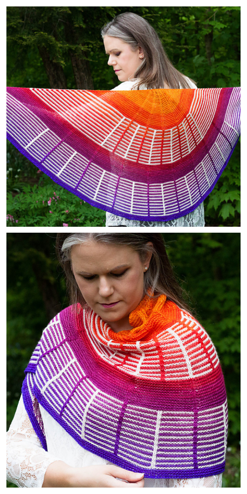 Knit Indiana Sunset Shawl Knitting Pattern
