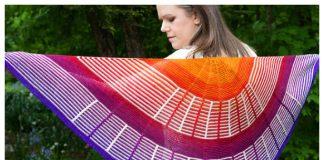 Knit Indiana Sunset Shawl Knitting Pattern