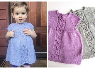 Knit Leaf Love Baby Dress Free Knitting Pattern
