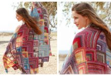 Knit Mitered Moroccan Colors Blanket Free Knitting Pattern