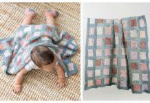 Knit Mitered Square Blanket Free Knitting Pattern
