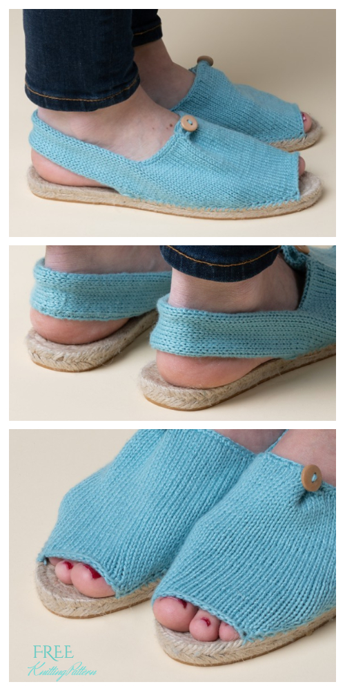 Knit Summer Espadrilles Shoes Free Knitting Patterns
