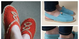 Knit Summer Espadrilles Shoes Free Knitting Patterns