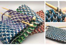 Knit Reversible Triple Check Stitch Free Knitting Patterns
