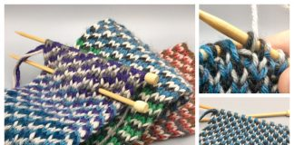Knit Reversible Triple Check Stitch Free Knitting Patterns