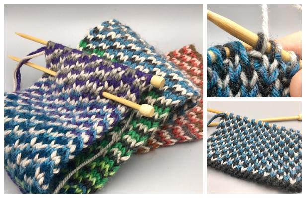 Knit Reversible Triple Check Stitch Free Knitting Patterns ...