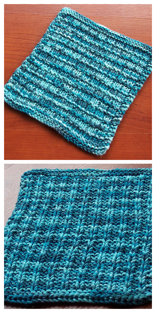 Knit Waffle Stitch Washcloth Free Knitting Patterns