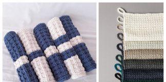 Knit Waffle Stitch Washcloth Free Knitting Patterns