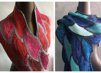 Tipping the Scales Shawl Free Knitting Pattern