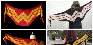 Wonder Woman Wrap Shawl Free Knitting Pattern