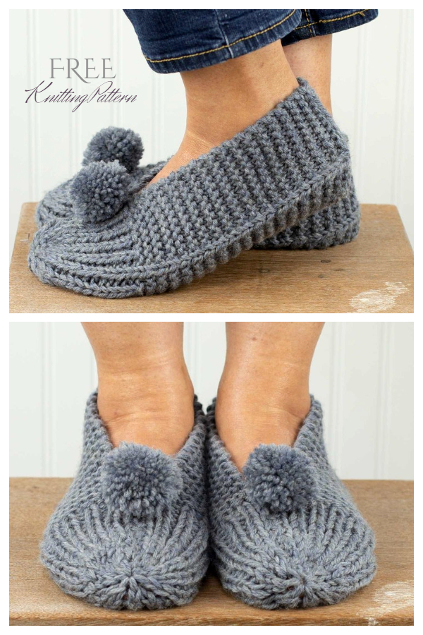 Easy Knit Family Slippers Free Knitting Patterns