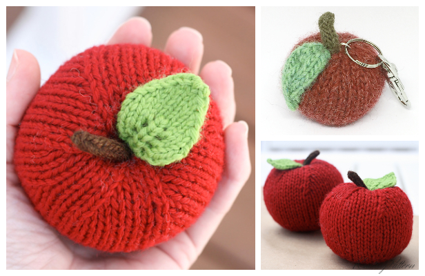 Amigurumi Apple Free Knitting Patterns - Knitting Pattern