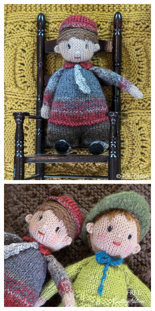 Amigurumi Little Kiddle Doll Boy Free Knitting Patterns