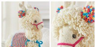 Amigurumi Toy Llama Free Knitting Pattern & Paid