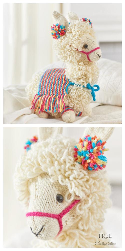 Amigurumi Toy Llama Free Knitting Pattern