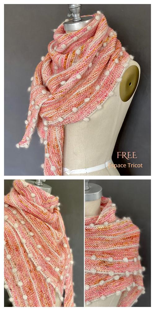 Fleur Bobble Shawl Free Knitting Pattern