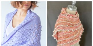 Chic Bobble Shawl Free Knitting Patterns