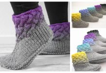 Braided Design Slippers Knitting Pattern