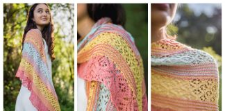 Colorful June Lace Shawl Free Knitting Pattern