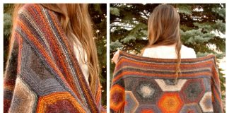 Knit Creekside Hexagon Shawl Free Knitting Pattern