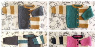 Gingersnap Baby Cardigan Free Knitting Pattern