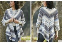 Knit Jacquard Triangle Cardigan Free Knitting Pattern