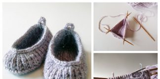 Knit Baby Ballet Flats Booties Free Knitting Patterns