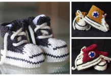 Knit Baby Sneaker Booties Free Knitting Patterns