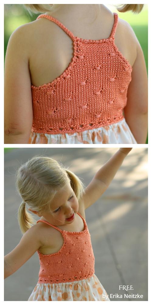 Knit Fabric Flitter Sundress Free Knitting Patterns