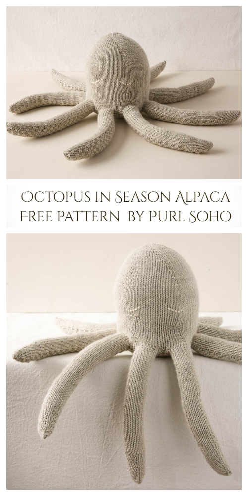 Knit Giant Octopus Toy Free Knitting Pattern