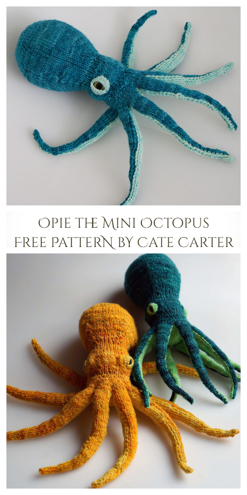 Knit Giant Octopus Toy Free Knitting Patterns