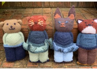 Knit One Piece Animal Dolls Free Knitting Patterns