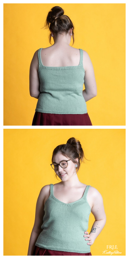 Knit Summer Tank Top Free Knitting Patterns
