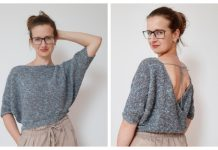 Knit V Back Top Free Knitting Patterns & Paid