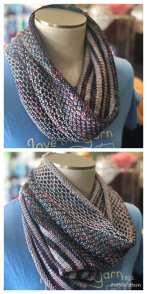 Knit Mix Stitch Versa Cowl Free Knitting Pattern