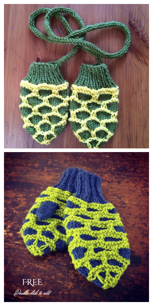 Turtle Baby Booties and Mittens Free Knitting Patterns