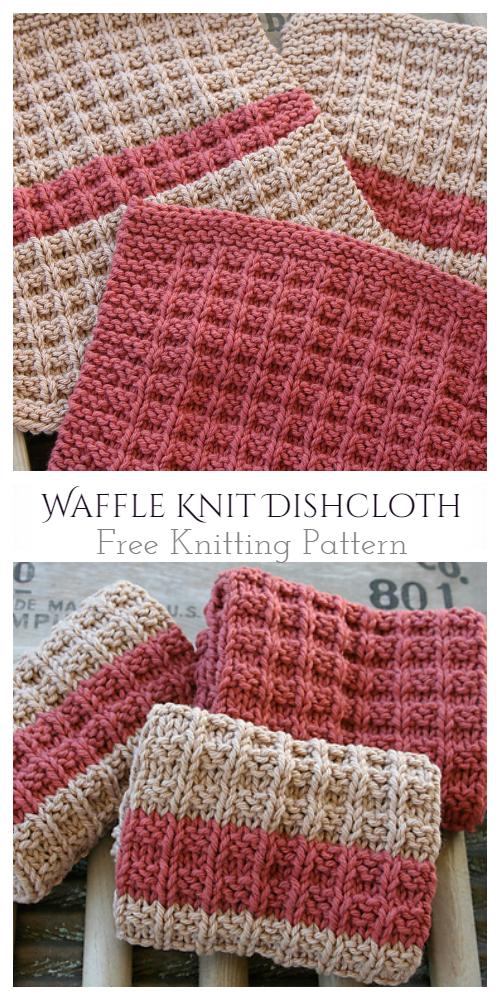 Waffle Washcloth Free Knitting Patterns