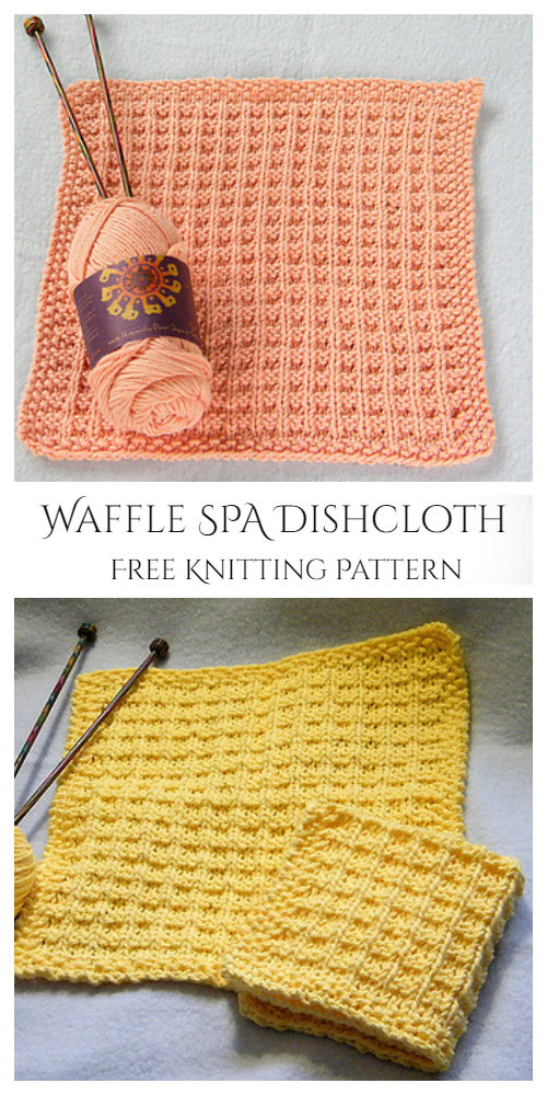 Knit Waffle Washcloth Free Knitting Patterns - Knitting ...
