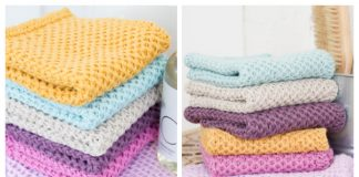 Knit Waffle Washcloth Free Knitting Patterns