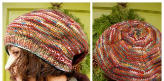 Easy One Day Beret Hat Free Knitting Pattern