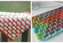 Brick Stitch Dishcloth Free Knitting Pattern
