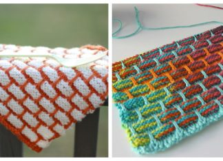 Brick Stitch Dishcloth Free Knitting Pattern