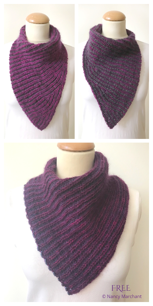 emPower People Briohe Bandana Cowl Free Knitting Pattern