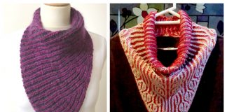 Briohe Bandana Cowl Free Knitting Patterns