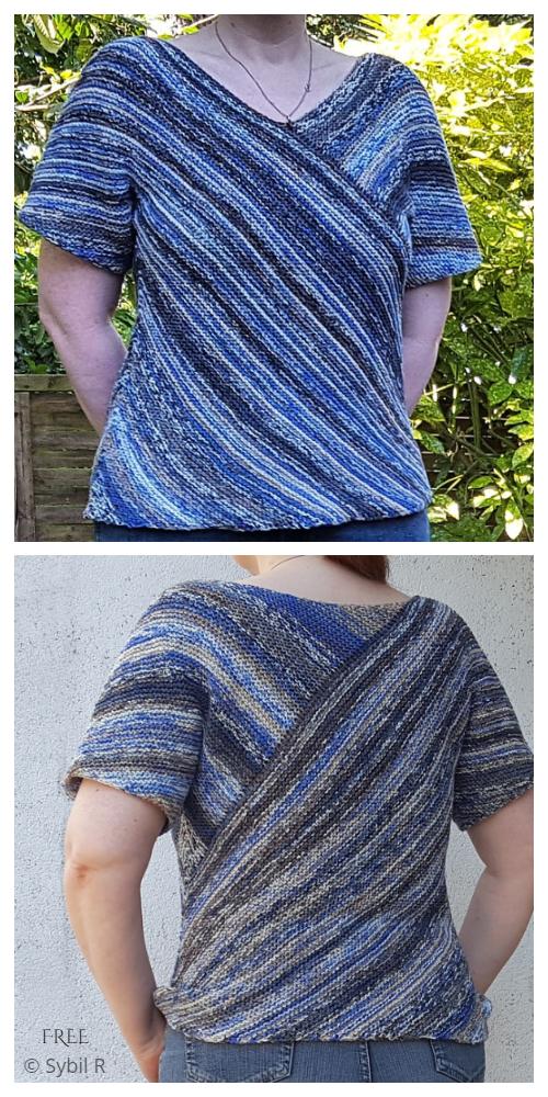 DIY Garter Stitch Top Free Knitting Pattern